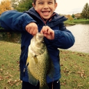 Aidan got surprised when he hooked this giant 14 inch Crappie from Panfish Park in Glen Ellyn. He returned him home and hopes to catch him again someday.