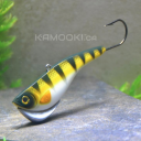 I just bought a few of these new lures from Kamooki baits...They look like they are incredibly versatile. I'm excited. Thought I'd share it with you guys. Looks like you can vertically jig it, crank it, walk it on the bottom..and it balances in place. Lots of possibilities